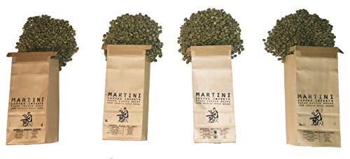 Unroasted Green Coffee Beans - Africa Sampler Pack - 4LBS - 100% raw Arabica Coffee Beans - Rwanda, Kenya, Uganda, Burundi