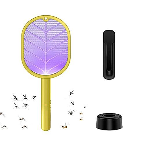 Combinación de mosquitero Killer + Luz de Noche, Mosquitero eléctrico, Mosquitero UV, Asesino, 3 Tipos de Modos Anti-Mosquitos, Seguro y sin radiación, 20 días de Uso Continuo,Amarillo