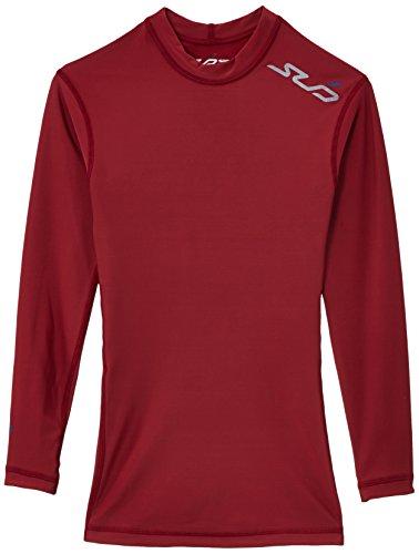 Sub Sports Dual T-Shirt de Compression Manches Longues Garçon, Bordeaux, FR : 6-8 Ans (Taille Fabricant : SY)