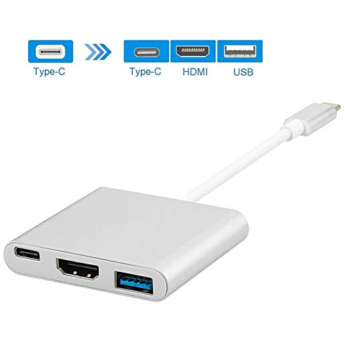 MMYJ Typ-C Adapter USB-C zu HDMI & USB3.0 & USB-C Multiport Konverter Aufladekabel für Nintendo-Schalter, MacBook Pro 2018, Samsung Galaxy S9 S8 / S8 +