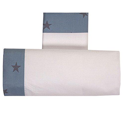 Draps Berceau Lella étoile blanc/bleu