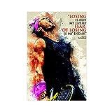 The Great Tennis Star Rafael Nadal Sports Legend Poster 2
