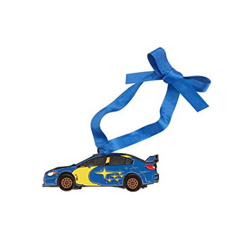 Subaru Official Christmas Rally Team USA Motorsports CAR Tree Ornament Xmas Gift Box STI WRX Holiday