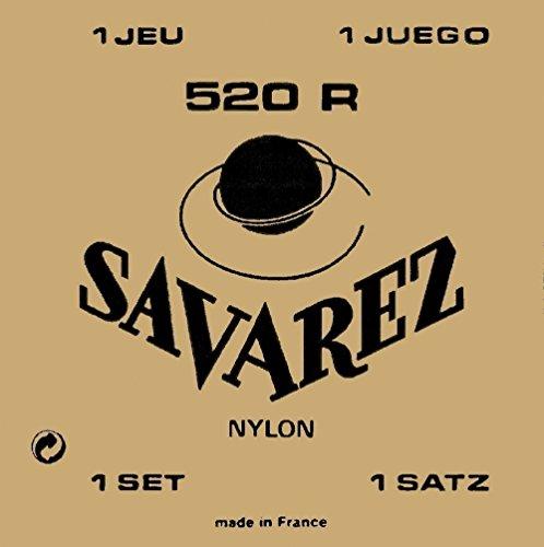 Savarez Saiten für klassische Gitarre Traditional Concert 524J Einzelsaiten - Re4w hoch - geeignet für 520J