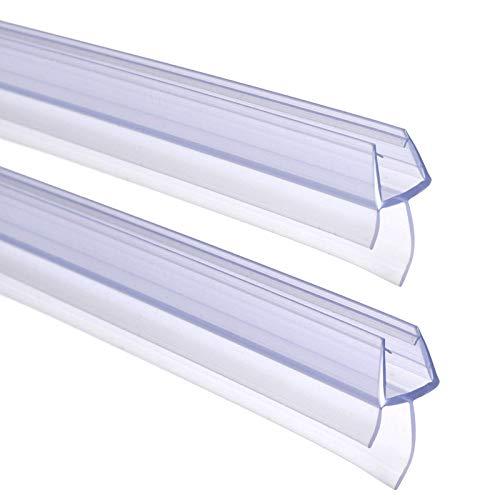 FOCCTS Duschtür Dichtung 2 x 90 cm - Mit verlängerten Gummilippen für trockenen Boden im Bad - Glastür Duschdichtung für 6mm, 7mm, 8mm Glasdicke - Duschleiste für Duschkabine mit Wasserabweiser