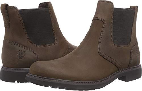 Timberland Herren Stormbucks Chelsea Pull-on Chukka Boots, Braun (Dark Brown Nubuck), 43.5 EU