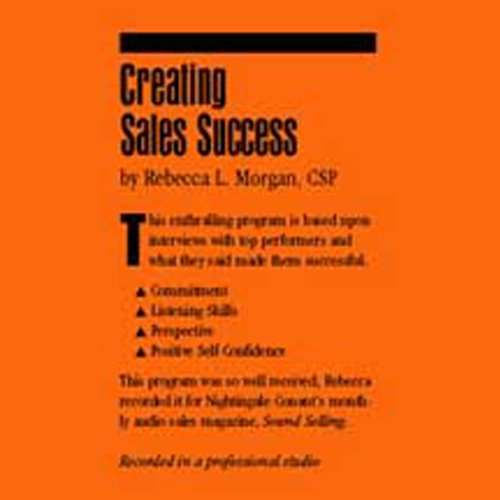Creating Sales Success audiobook cover art