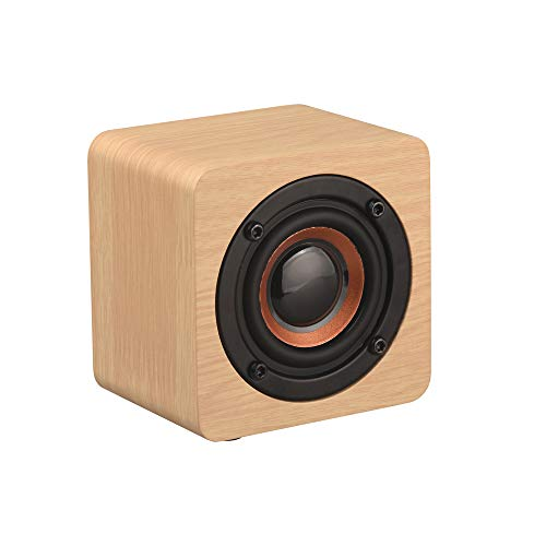 OPAKY Hölzerner hölzerner Subwoofer-drahtloser Bluetooth-Sprecher HiFi-Stereobasslautsprecher für iPhone, Samsung usw