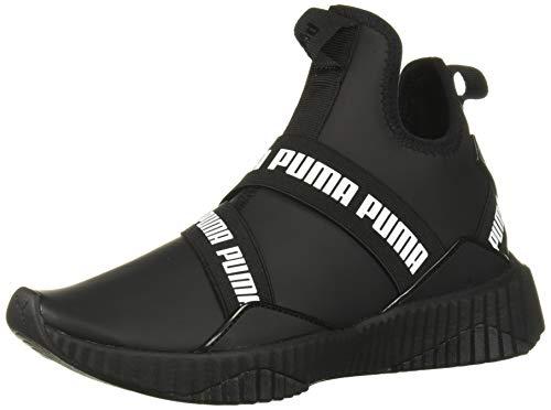 PUMA Women's DEFY MID Shoe, Black White, 6.5 M US