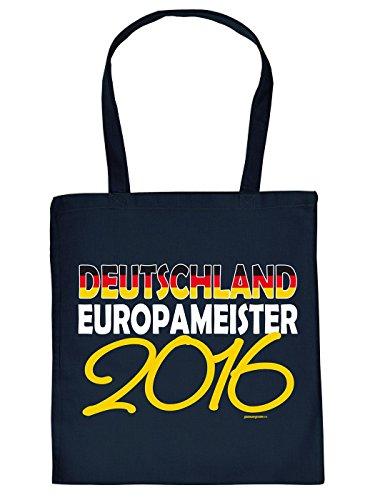 Fußball Fanartikel, Stofftasche Einkaufstasche Baumwolltasche zur Europameisterschaft - Deutschland Europameister 2016!