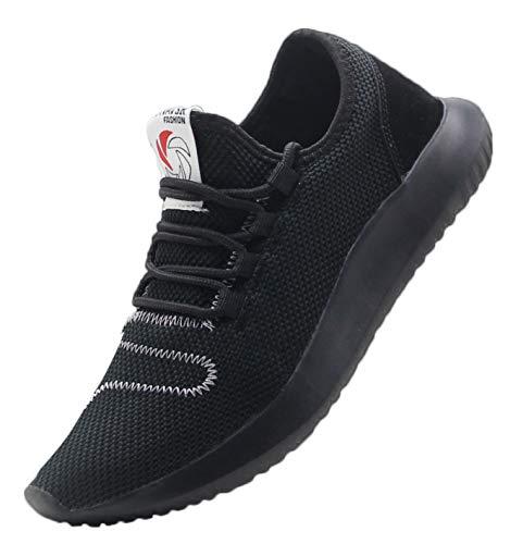 CAMVAVSR Women's Sneakers Fashion Slip on Lightweight Breathable Mesh Soft Sole Walking Running Jogging Shoes for Women All Black Size 10