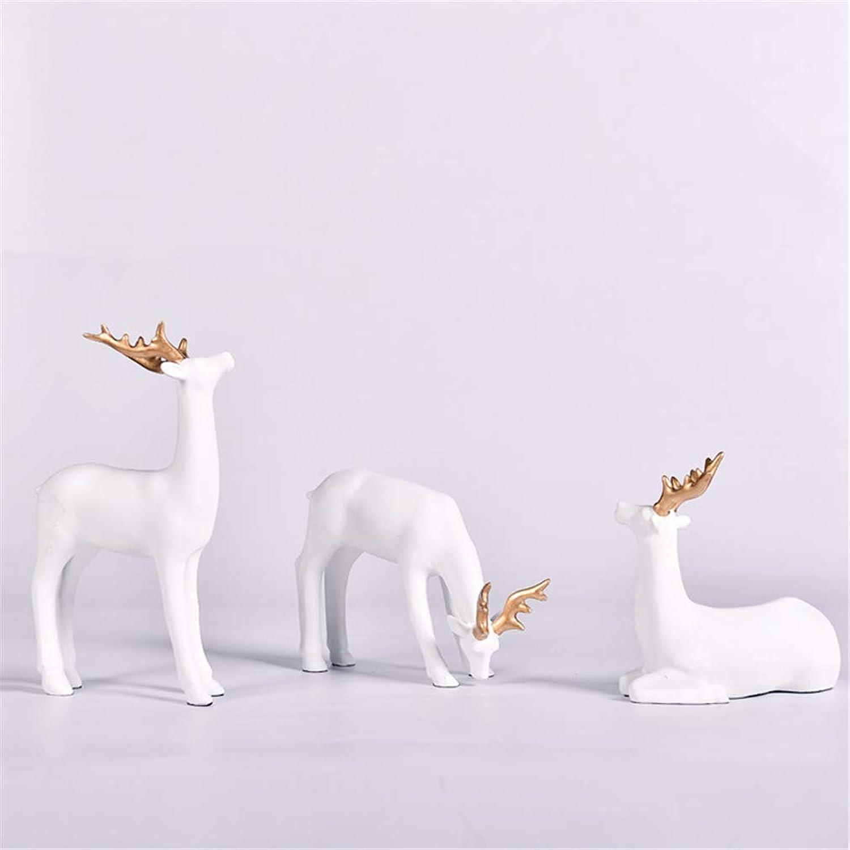 Sculptures Statues Elk Desk White Decoration Resin Crafts Wine Cooler Home Decoration Gift