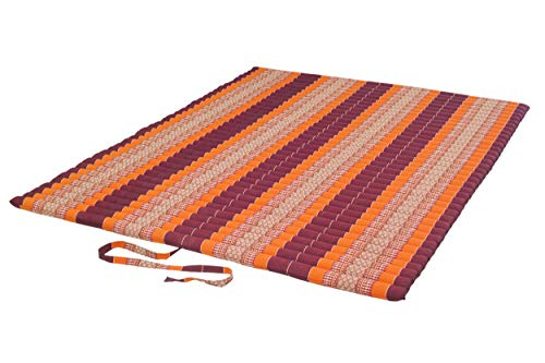 Handelsturm rollable thai mattress, extra large kapok mat aprox. 200x150 cm with natural kapok fillig, for bodywork massage and outdoor activities
