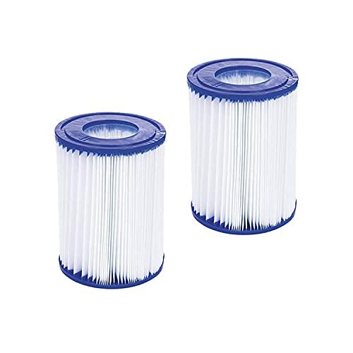 WuYan Paquete de 2 filtros de piscina compatibles con Bestway Cartridge II, filtro de repuesto compatible con bomba de filtro Lay Z Spa