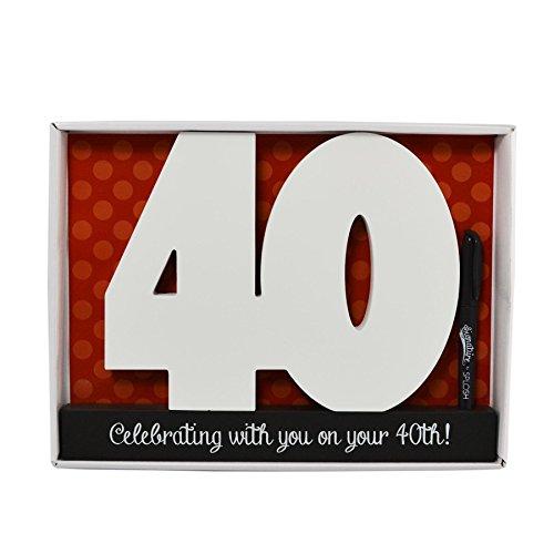madera 40 cumpleaños Números