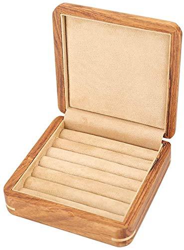 Ktzhk Schachtel Manschettenknöpfe aus reinem Massivholz. Schmuckschatulle. Aufbewahrungsbox. Schmuckschatulle. Ohrringbox (A)