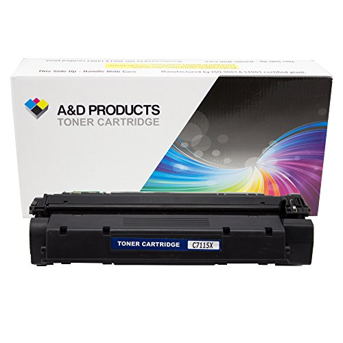 A&D Products Compatible Replacement for HP C7115X Toner Cartridge High Yield Black HP15X (3,500 Page Yield) for use in LaserJet 1220, LaserJet 1220se, LaserJet 3300, LaserJet 3310, LaserJet 3320, LaserJet 3320n, LaserJet 3330, LaserJet 3380