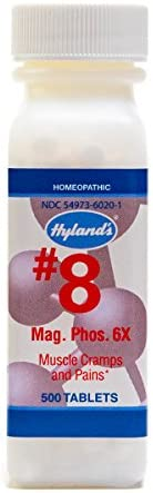 PMS Relief, Natural Homeopathic Relief of Menstrual Pain and Muscle Cramp Symptoms by Hyland's, Muscle Relaxer, Quick Dissolving #8 Cell Salt Magnesia Phosphoric 6X Tablets, 500 Count