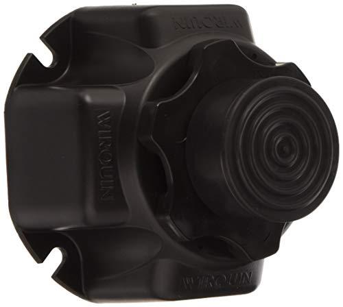Wirquin 30719799 Set 4 Füße Duschtasse Schwarz