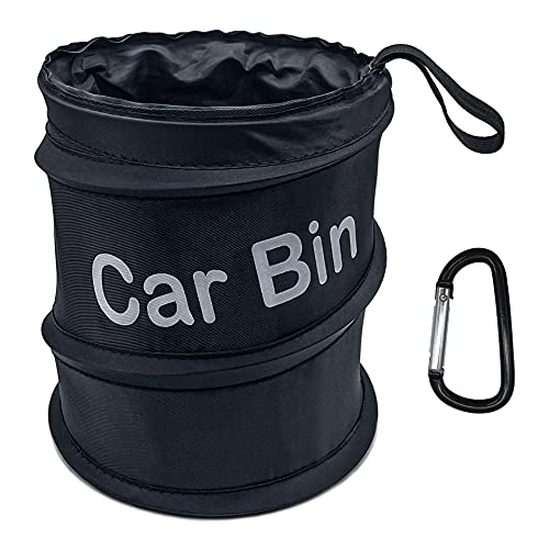 Portable Car Trash Can, Foldable Pop-up Car Trash Bag, Collapsible Garbage Holder Container Waste Basket Rubbish Bin for Car/Truck/SUV/Minivan
