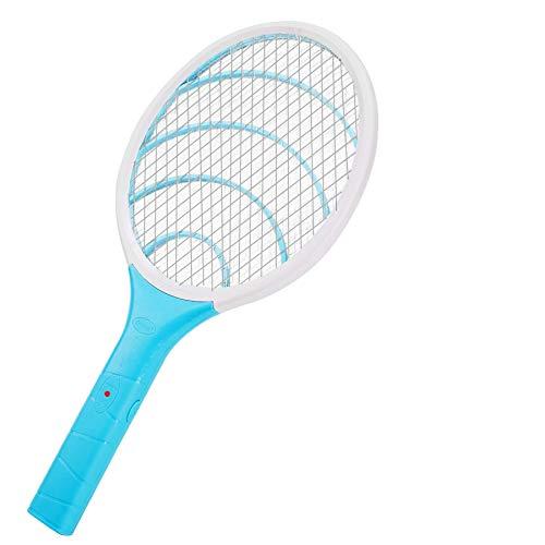 Lukasa Racchetta Zanzare Elettrica, Swatter Insetti Elettrico Repellente Mosquito Killer Elettronico Volare Anti-Insetti Stermina Uccisore Mosche Insetticida (Blu)