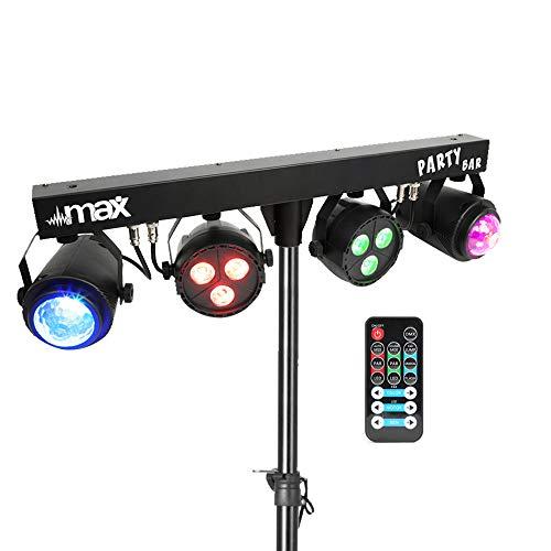 DJ Party Disco Lights Partybar MoonFlower PAR T-BAR Stand DMX Music...