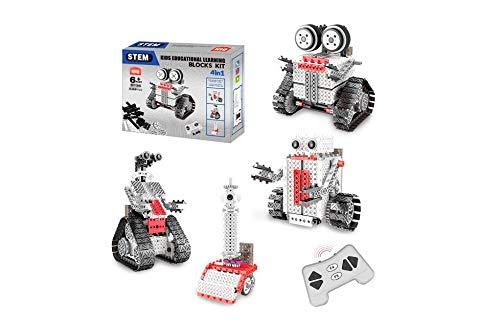 RC TECNIC Kit Robotica Educativa 4 en 1 | STEM Robot Teledirigido para Montar DIY Juguete de Construcción Juego Robotica para Niños 233 Piezas