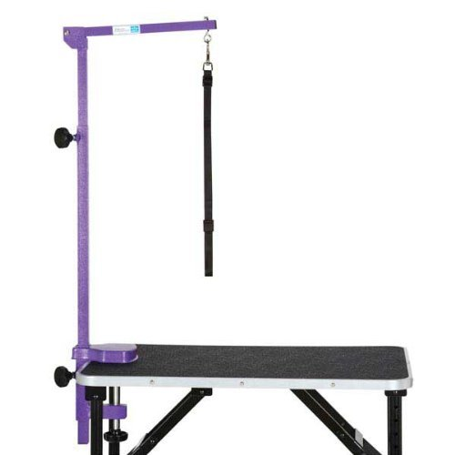 """Master Equipment Blue Foldable Grooming Arm for Pets – 24"""" to 48"""" in Height, Attaches to Grooming Table Minimum 3"""" Thick"""