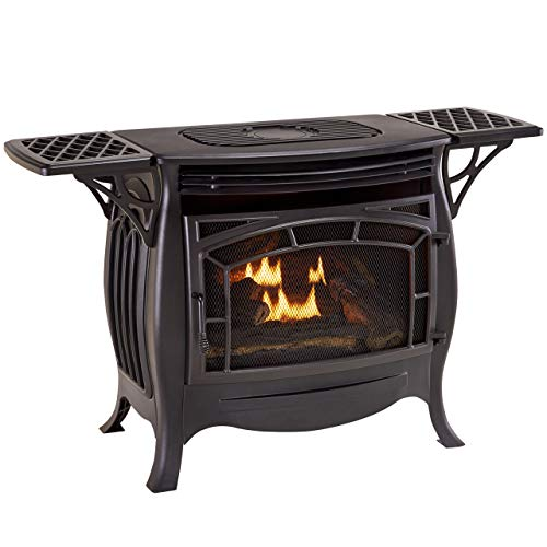 Duluth Forge Dual Fuel Vent Free Gas Stove - Model FDSR25, 26,000 BTU, Matte Finish, Remote Control