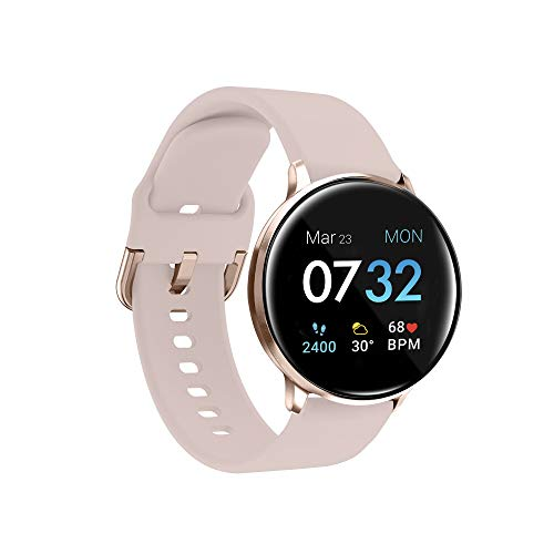 iTouch Sport 3 smart watch & fitness tracker, for women and men, (43mm), blush strap