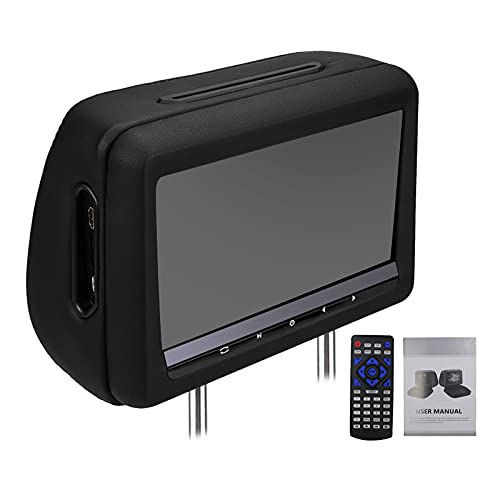SODIAL Reproductor de DVD de Reposacabezas de 10,1 Pulgadas Reproductor Multimedia para Asiento Trasero de Coche con FM/IR/USB/ (MP5)/Juego InaláMbrico/Compatible con para Coche