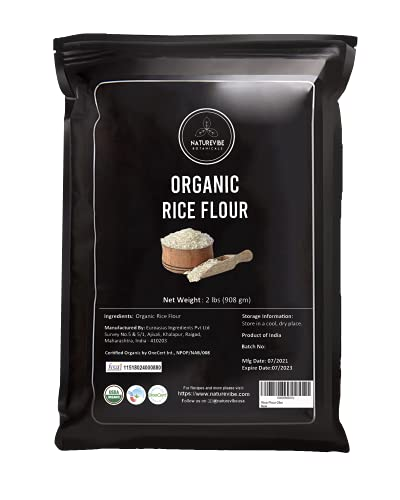 Naturevibe Botanicals White Rice Flour - 2lbs | Non GMO and Gluten Free (32 ounces) | Used for Cooking | Alternative for Baking | [Packaging may vary]