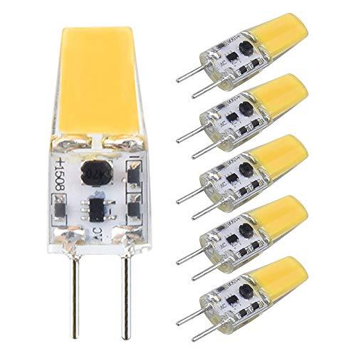 Bonlux Lampadine a LED G6.35 3W AC/DC 12V Bianco Calda 3000K Bi-Pin JC Tipo Lampadina a Capsula Sostituzione Della Lampadina Alogena 25W 30W GY6.35/G6.35 (Non Dimmerabile 5-Pacco)