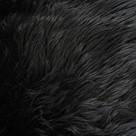Style 5047 Black Pile Luxury Faux Fur Fabric by the Yard