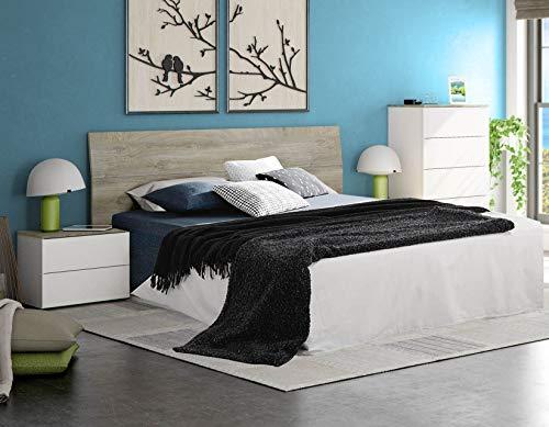Miroytengo Pack Muebles New Dreams Dormitorio Matrimonio Camas 150 o 135 cm (cabecero+2 mesitas +cómoda) Cama no incluida