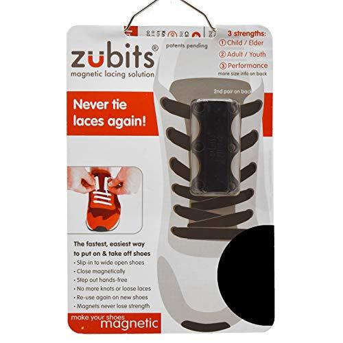 zubits® - Magnetische Schuhbinder/Magnetverschlüsse für Schuhe - Größe #3 Sport/über 84kg in schwarz