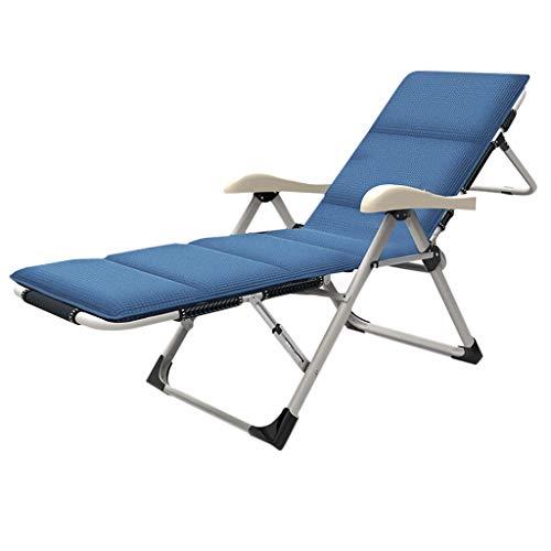 Bains de Soleil Blue Mat Camping Garden Fauteuil Inclinable Chaise Extérieure 14 File Beach Chaise 184cm