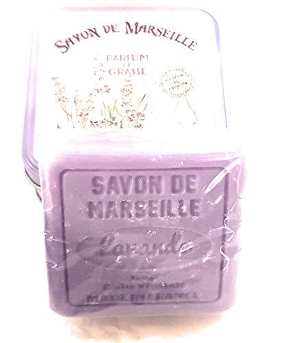Savon de Marseille à l'huile végétale - Parfum de Grasse - senteur Lavande - couleur violet - fabriqué en France