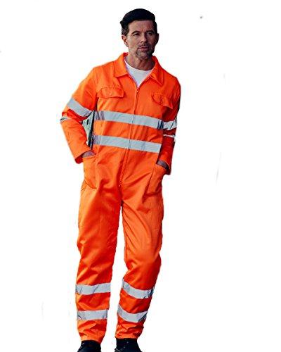 Yoko Hi-Vis Polycotton-Overall für Herren, Arbeitskleidung für Herren, BT-HV058-3M-Hi Vis Yellow - 2XL, Gelb, BT-HV058-3M-Hi Vis Yellow - 2XL 110