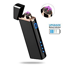 Lighter, Electric Arc Lighter USB Rechargeable Lighter Windproof...