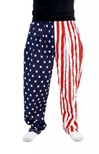USA American Flag Lounge Pants Pajamas (Medium)