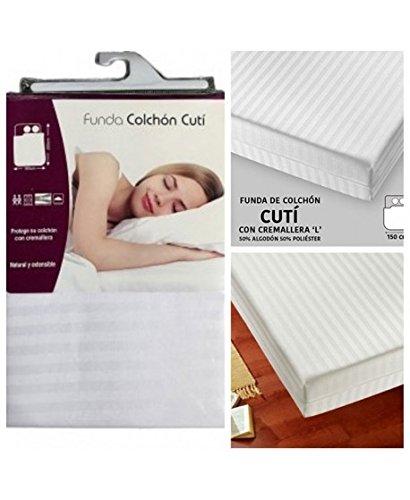 """ADP Home - Funda de colchón """"cutí"""" con cremallera """"L"""" (para cama ..."""
