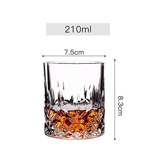 Ltong 6 stuks set whisky wijnglas bier sap kristal beker whisky brandewijn wodka glazen 11 keuzes transparante bar club keuken decor, rood, 6 stuks