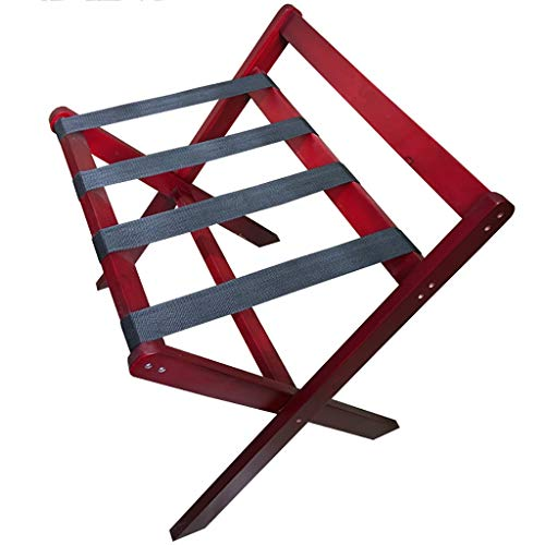 Lowest Price! WSNBB Classic Luggage Rack,All Solid Wood Material, Foldable Design for Home,Bedroom &...