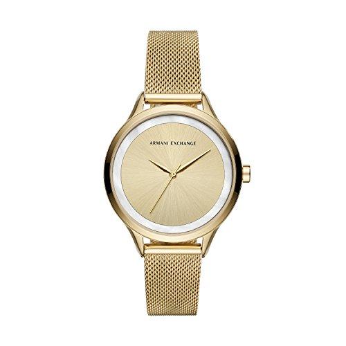 Armani Exchange Reloj Analogico para Mujer de Cuarzo con Correa en Acero Inoxidable AX5601