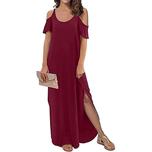 Vestidos de mujer Plus Dressesspring Vestido de niña Vestidos Boho Vestido de playa Mujeres Verano Rojo S