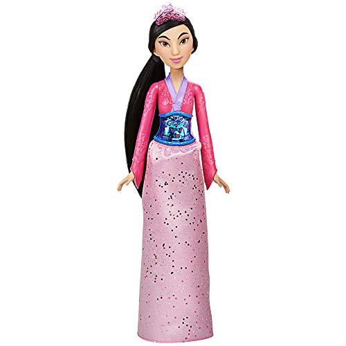 Hasbro Disney Prinzessin Schimmerglanz Mulan Puppe, Modepuppe mit Rock und Accessoires, Spielzeug für Kinder ab 3 Jahren