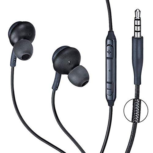 Auriculares con Cable Auriculares magnéticos internos con micrófono Auriculares magnéticos de Metal Auriculares estéreo súper Bajos Auriculares Resistentes al Sudor con micrófono para teléfono