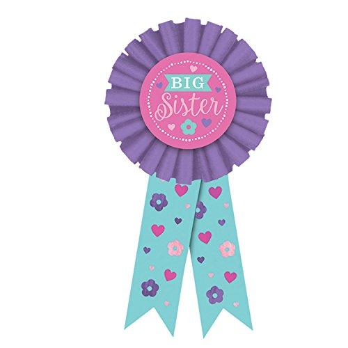 Amscan 210462 Big Sister Award Ribbon, 1ct