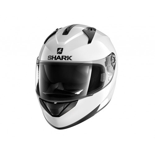 SHARK NC Casco per Moto, Mens, Blanco, M